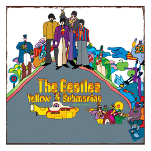 """Picture of Beatles Metal Sign:  """"Yellow Submarine"""" Vintage Metal Sign"""
