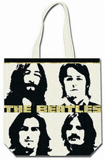 Picture of Beatles Tote Bags: The Beatles Canvas Zip Totes TOTE: The Beatles - Let It Be Era (Long Haired Yobos)