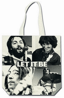Picture of Beatles Tote Bags: The Beatles Canvas Zip Totes TOTE: The Beatles - Let It Be
