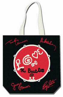 Picture of Beatles Tote Bags: The Beatles Canvas Zip Totes TOTE: The Beatles - Love Signatures