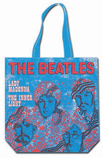 Picture of Beatles Tote Bags: The Beatles Canvas Zip Totes TOTE: The Beatles - Lady Madonna (Blue)