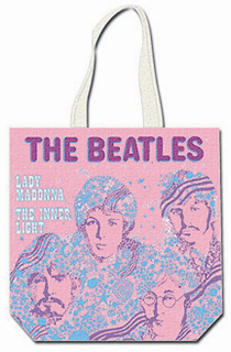 Picture of Beatles Tote Bags: The Beatles Canvas Zip Totes TOTE: The Beatles - Lady Madonna (Pink)
