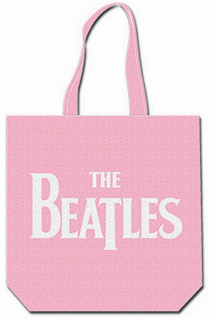 Picture of Beatles Tote Bags: The Beatles Canvas Zip Totes TOTE: The Beatles - DropT Logo (Pink)