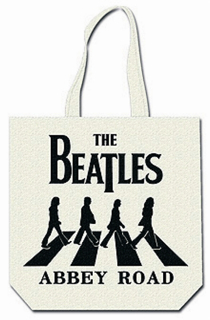 Picture of Beatles Tote Bags: The Beatles Canvas Zip Totes TOTE: The Beatles - Abbey Road (B on W)