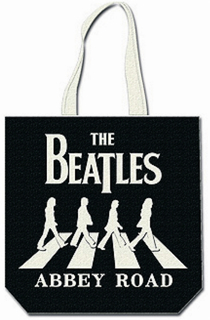 Picture of Beatles Tote Bags: The Beatles Canvas Zip Totes TOTE: The Beatles - Abbey Road (W on B)