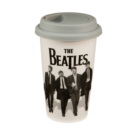 Picture of Beatles Coffee Cup: Beatles 12 oz. Double Wall Ceramic Travel Mug
