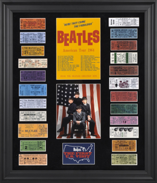 Picture of Beatles ART: The Beatles 1964 U.S. TOUR CONCERT TICKETS