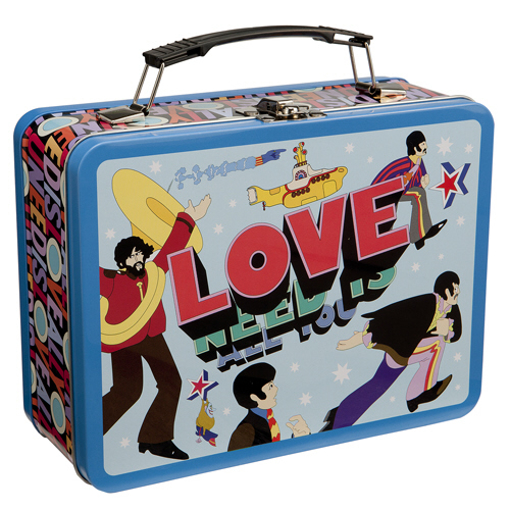 """Picture of Beatles Lunch Box: The Beatles """"All you need is Love"""" Large Tin Tote"""