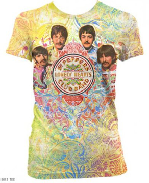 Picture of Beatles T-Shirt: The Beatles Sgt Peppers Paisley Dye Sublimation Junior Shirt
