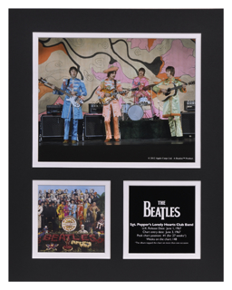 Picture of Beatles Photographs: The Beatles 11x14 Matted Photo Collection The Beatles Sgt Peppers Matted Photo Collection 1967