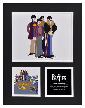 Picture of Beatles Photographs: The Beatles Yellow Submarine Album 11x14 Matted Photo Collection The Beatles Matted Photo Collection 1969