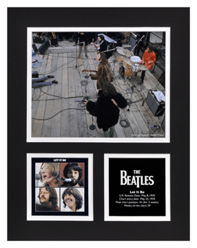 Picture of Beatles Photographs: The Beatles Apple Corps Rooftop 11x14 Matted Photo Collection The Beatles Matted Photo Collection 1970