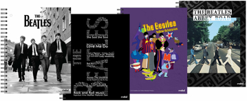 Picture of Beatles Notebook: New! Set of Four 11 x 8.5 Notebooks