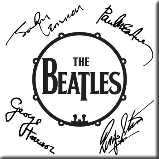 Picture of Beatles Magnets: The Beatles Many Styles MAG-The Beatles Signed Drum Logo