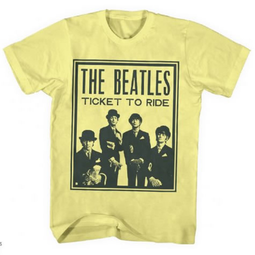 Picture of Beatles T-Shirt: Beatles Ticket to Ride
