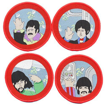 Picture of Beatles Patches: Cartoon Porthole Patch Set