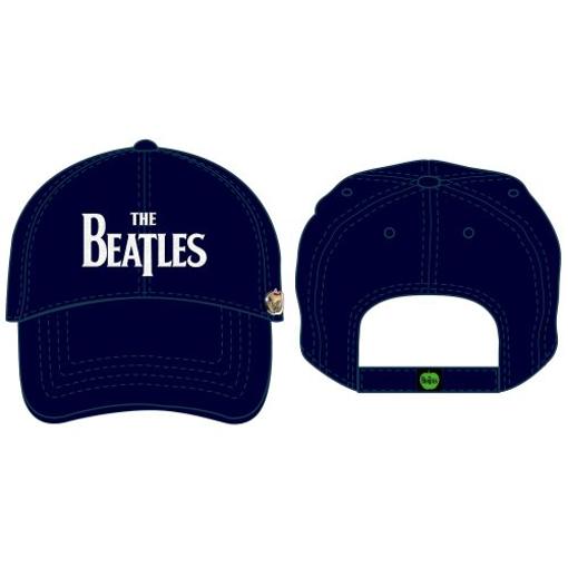 Picture of Beatles Cap: The Beatles Drop T Logo Distressed (Dark Blue)