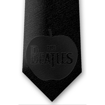 Picture of Beatles Tie: Subtle Black Apple Tie