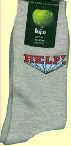 Picture of Beatles Socks: The Beatles Mens Grey Help!