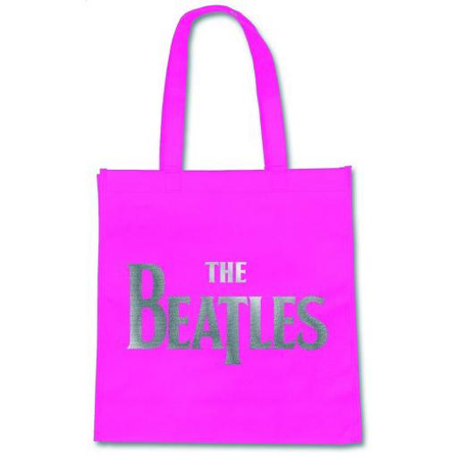 Picture of Beatles Tote: Eco-Shopper: Fuscia Drop T Logo