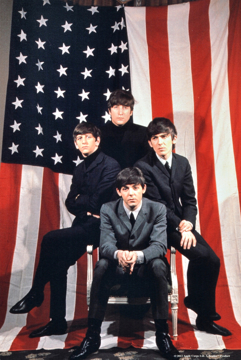 Picture of Beatles ART: BEATLES 1964 FLAG CANVAS  ART