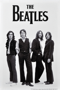Picture of Beatles ART: BEATLES 1969 B&W CANVAS ART