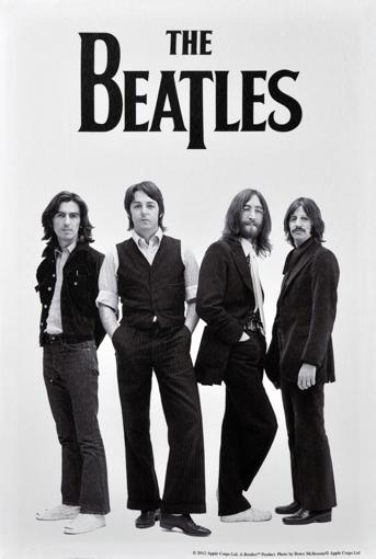 Picture of Beatles ART: BEATLES 1969 B&W CANVAS ART