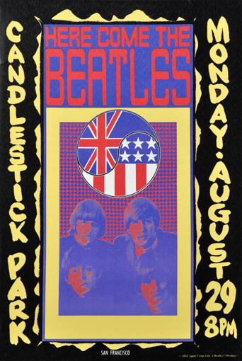 Picture of Beatles ART: BEATLES CANDLESTICK CONCERT CANVAS ART