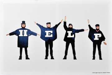 Picture of Beatles ART: BEATLES HELP CANVAS ART