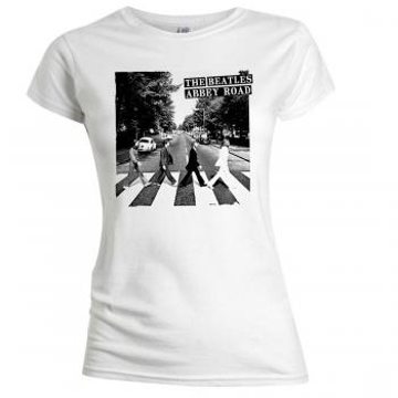Picture of Beatles Female T-Shirt: Abbey Road Black & White