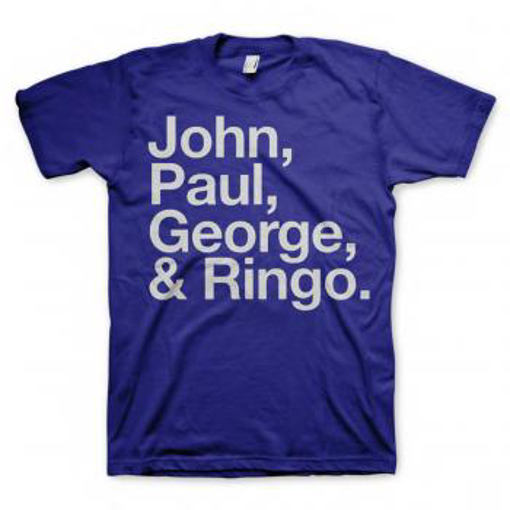 Picture of Beatles Adult T-Shirt: Blue JPGR  T-Shirt