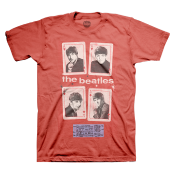 Picture of Beatles Adult T-Shirt: Vegas Cards & 1964 Ticket