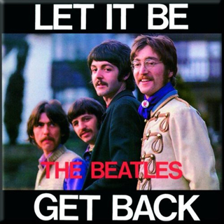 Picture of Beatles Magnets: The Beatles Many Styles MAG-Let It Be/Get back