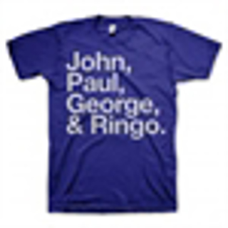 Picture of Beatles Adult T-Shirt: Blue JPGR  T-Shirt Large-Adult-Size