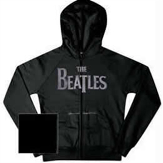 Picture of Beatles Sweat Shirt: - Beatles Zippered Charcoal Hooded  Small