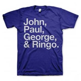 Picture of Beatles Adult T-Shirt: Blue JPGR  T-Shirt XL-Adult-Size