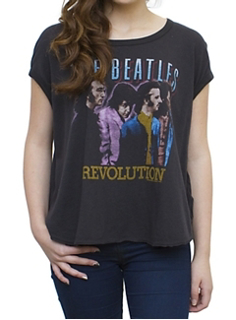 Picture of Beatles T-Shirt: Revolution Cosmo Cropped Tee Large- Jrs/Ladies