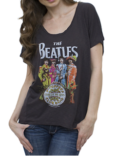 Picture of Beatles T-Shirt: Sgt Pepper Black Vintage Inspired Drifter Dolman Large- Jrs/Ladies