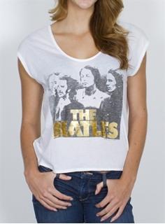Picture of Beatles T-Shirt: Womens Gold Foil  XL - Jrs/Ladies