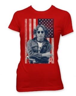 Picture of Beatles T-Shirt: John Lennon Women's Junior Tee Large