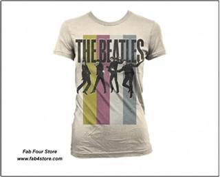 Picture of Beatles T-Shirt: Jumping Stripes  Junior Medium