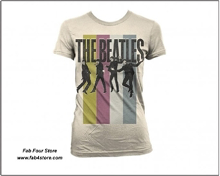 Picture of Beatles T-Shirt: Jumping Stripes  Junior Small