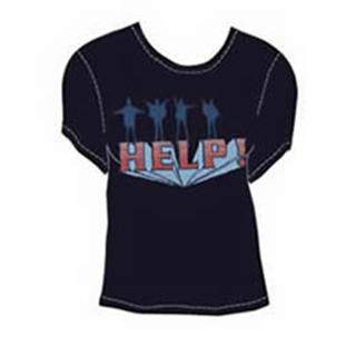 """Picture of Beatles T-Shirt: The Beatles Junior HELP! """"Raised"""" Large"""