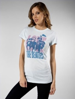 Picture of Beatles T-Shirt: Junk Food  The Beatles Umbrella Blues Medium - Jrs/Ladies