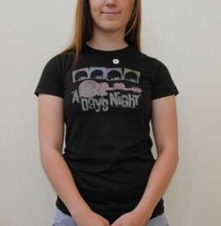 Picture of Beatles T-Shirt: Junk Food Beatles Hard Day's Night T-Shirt (Short Sleeved) Large - Jrs/Ladies