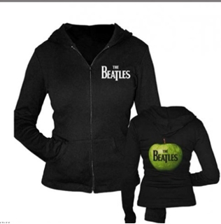 Beatles Hoodie: The Beatles Drop T & Apple Logo