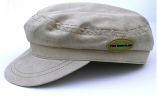 "Picture of Beatles Cap:  Help! Beige Cord with Badge XL Size Hat (23""inch)"