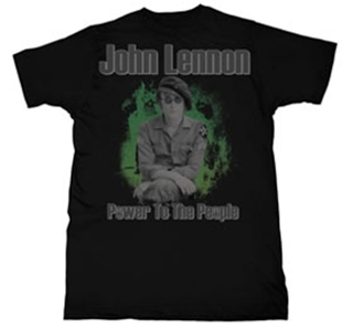 Picture of Beatles T-Shirt: John Lennon A Revolution Army Fatigue Medium-Adult-Size