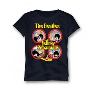 Picture of Beatles Youth T-Shirt: Yellow Sub in Navy Small