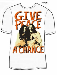 "Picture of T-Shirt: John Lennon ""Give Peace a Chance"" Large-Adult-Size"